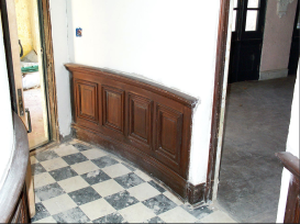 The entry hall. Now had hard wood floors.