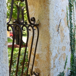 Iron detail in the walled garden